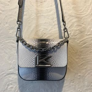 Karl Lagerfeld Faux Python Crossbody Bag